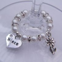 Niece Wine Glass Charms